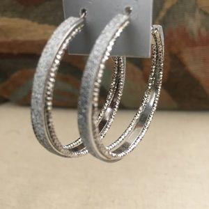Lux Jewelry - Silver hoop earring